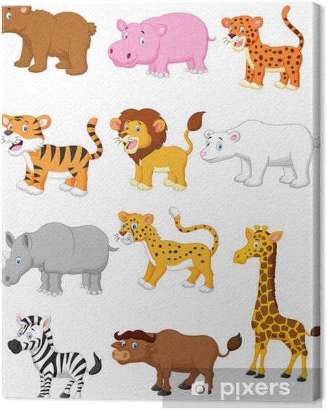 Wild animal cartoon Canvas Print - Mammals
