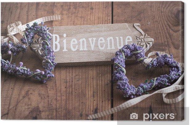 Willkommen - Bienvenue in Frankreich Canvas Print - Sales