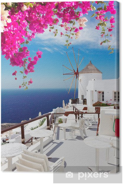 windmill of Oia, Santorini Canvas Print - Santorini