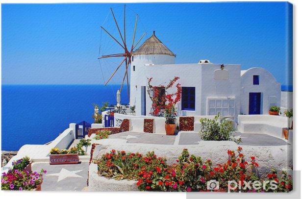 Windmill on Santorini island, Greece Canvas Print - Santorini