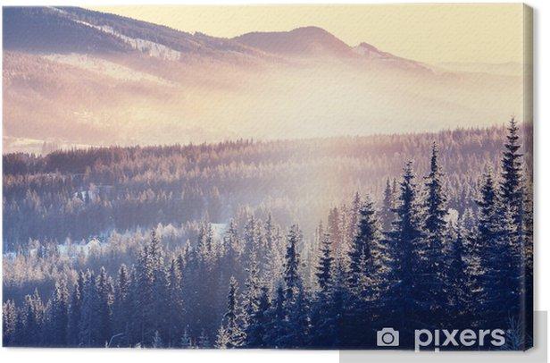 Winter mountains Canvas Print - Seasons