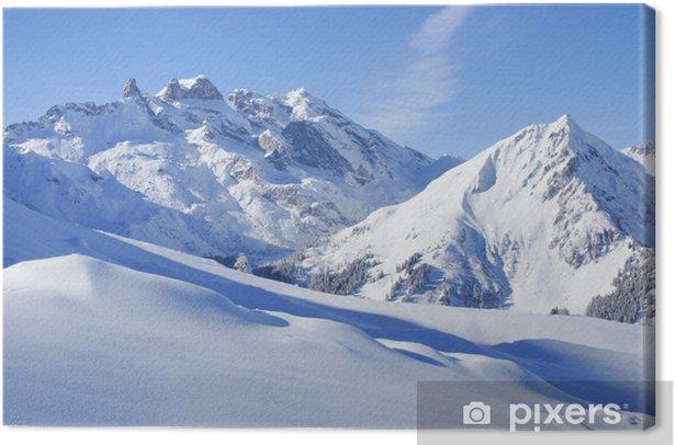 Winterlandschaft in den Alpen Canvas Print - Themes