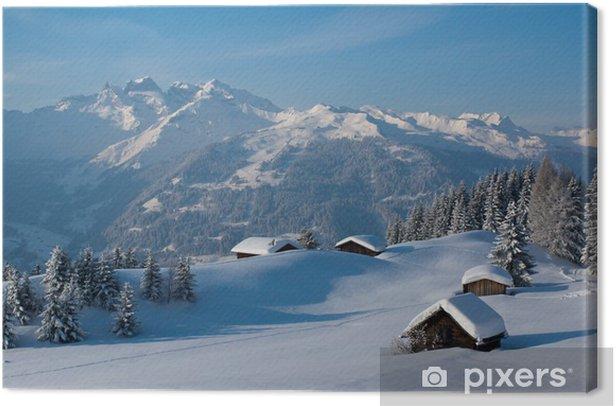 Winterlandschaft in den Bergen Canvas Print - Winter
