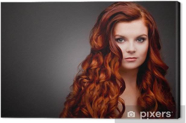 Woman With Red Curly Hair Canvas Print Pixers We Live To Change