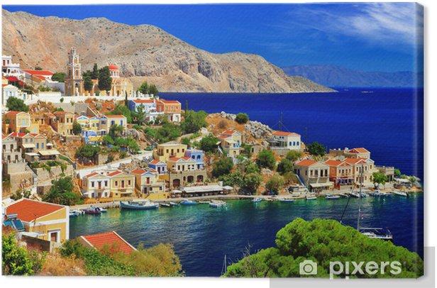 wonderful Greece. Symi island , Dodecanese Canvas Print - Themes