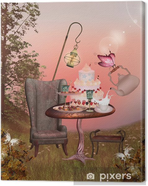 Wonderland series - birthday banquet Canvas Print -