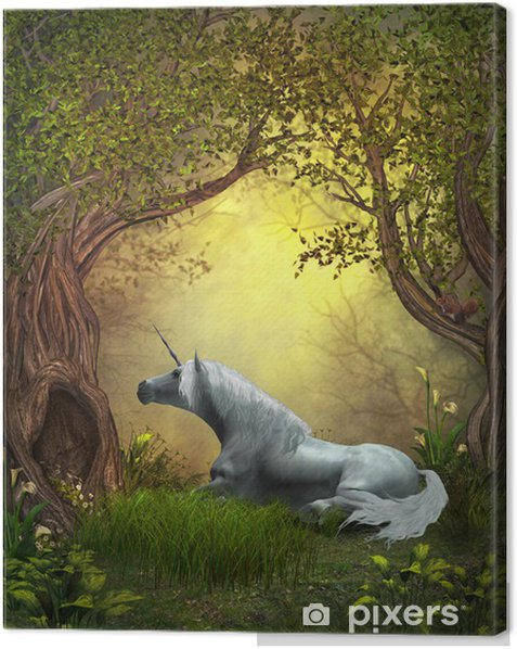Woodland Unicorn Canvas Print - Themes