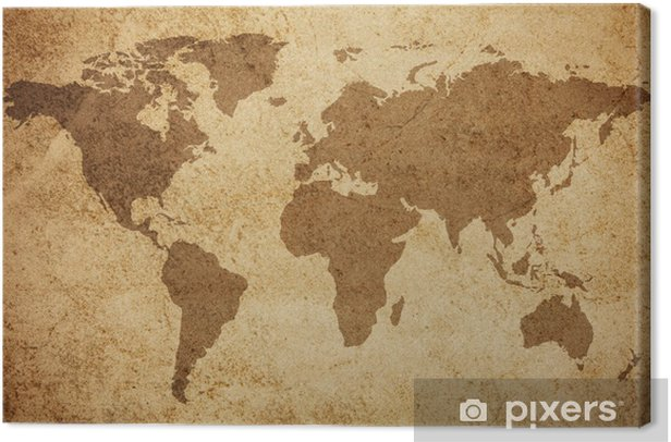 World map texture background Canvas Print - Themes