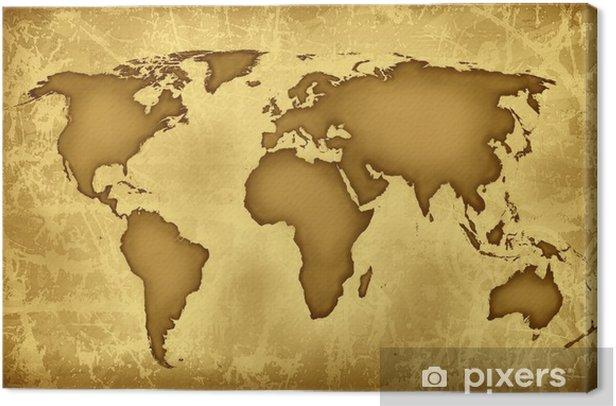 world map wallpaper Canvas Print