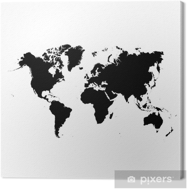 world map Canvas Print - Outer Space