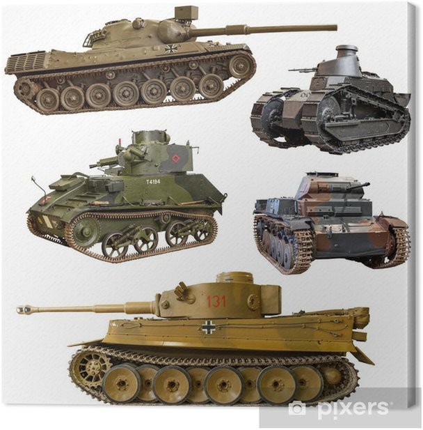 World War 2 tank Canvas Print - Themes