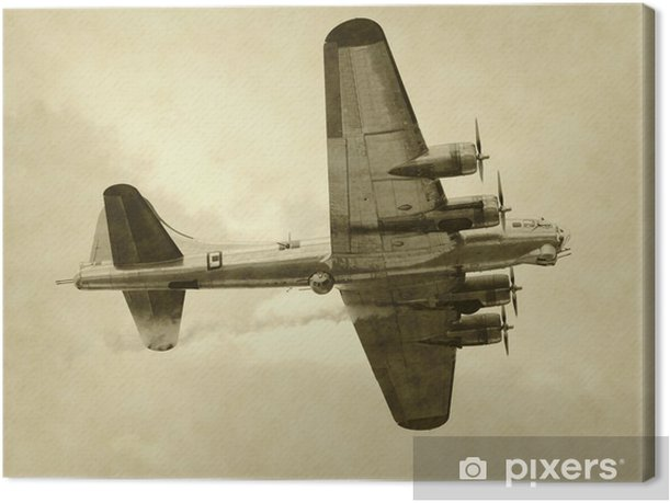 World War II era American bomber Canvas Print - Themes