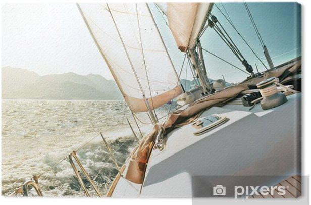 Yacht sailing Canvas Print - Destinations
