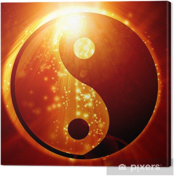Yin Yang sign Canvas Print - Buddhism