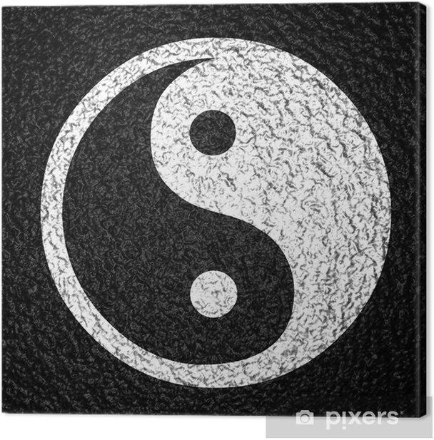 yin yang symbol on a dark background Canvas Print - Criteo