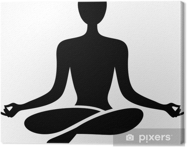 Yoga figure Canvas Print - Plants