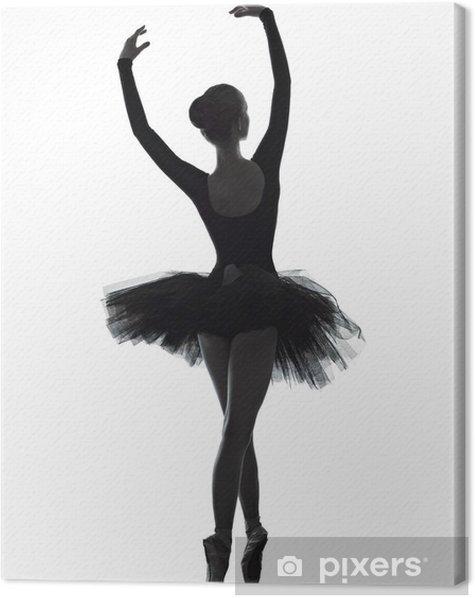 young woman ballerina ballet dancer dancing Canvas Print - Ballet