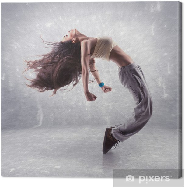 young woman hip hop dancer Canvas Print - Themes