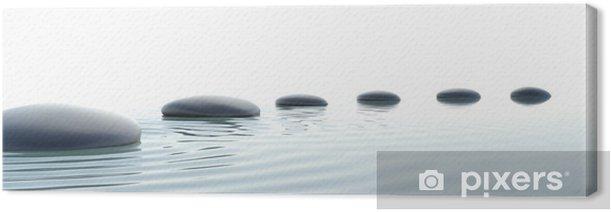 Zen path of stones in widescreen Canvas Print - Styles