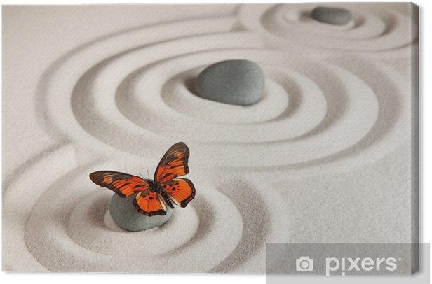 Zen rocks with butterfly Canvas Print - Styles