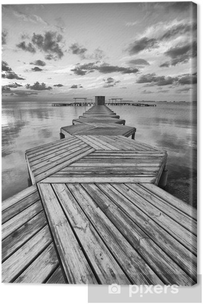 Zig Zag dock in black and white Canvas Print - Styles