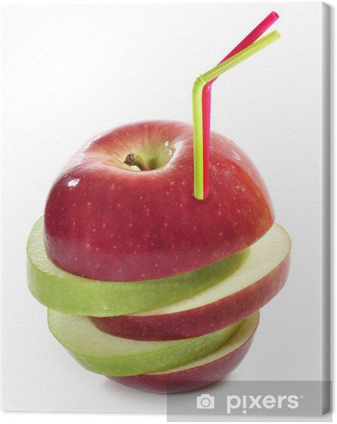 Zumo de manzana natural. Canvas Print - Juice