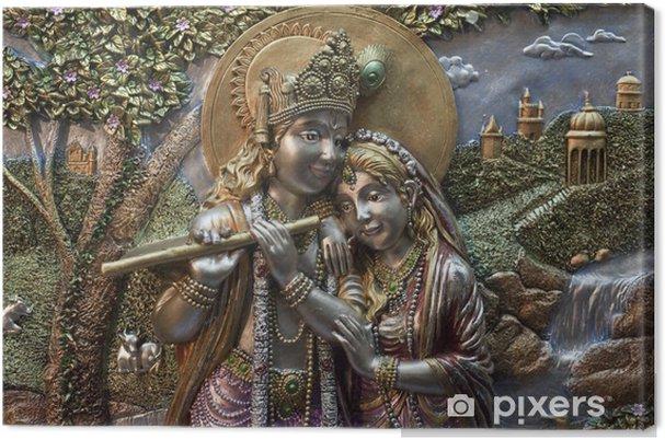 Canvas Radha-Krishna - Kunst en Creatie