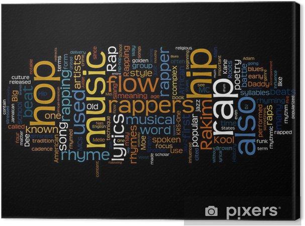 Canvas RAP Music - Hiphop