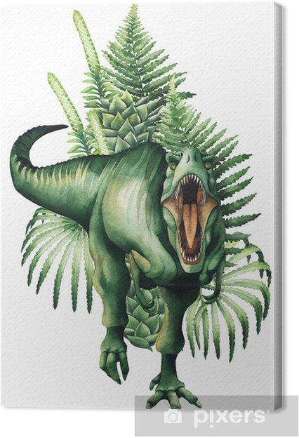 Canvas Realistische aquarel dinosaurus - Dieren