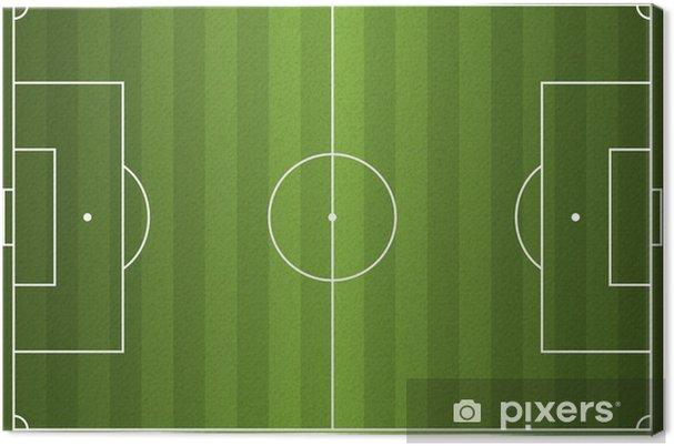 Canvas Realistische Vector Voetbal - Voetbalveld - Sportartikelen