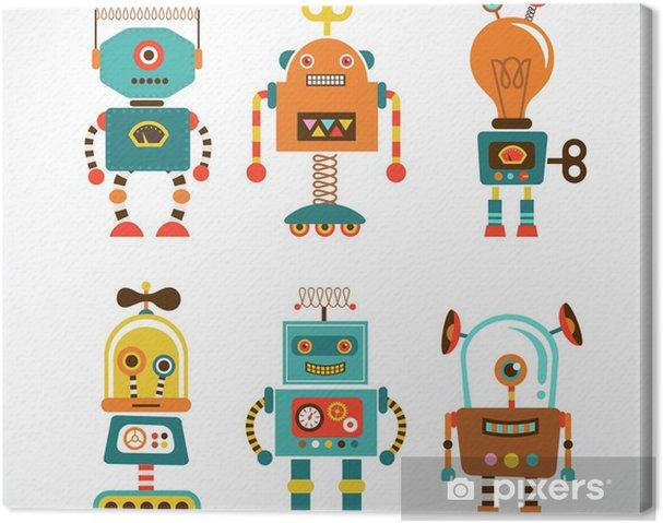 Canvas Reeks uitstekende robot iconen - Stijlen