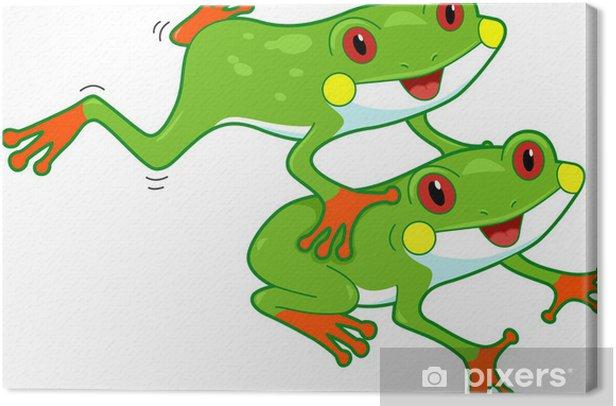 Canvas Regenwoud Frog - Andere Andere