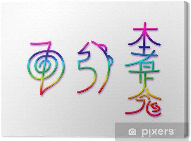 canvas reiki symbolen • pixers® - we leven om te veranderen
