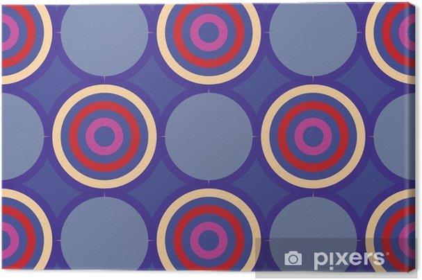 Canvas Retro naadloos patroon met circles10 - Grafische Bronnen