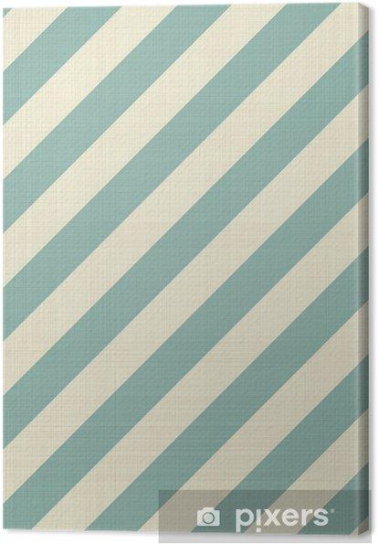 Canvas Retro naadloze geometrische patroon - Achtergrond