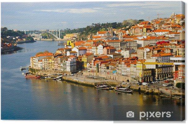Canvas Ribeira Oude deel van Porto, Portugal - Europa