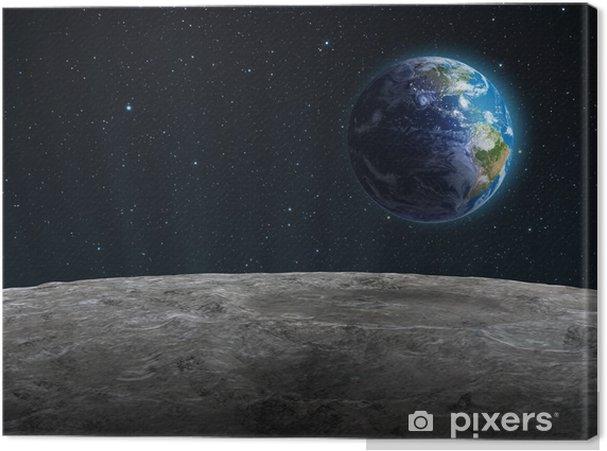 Canvas Rising Aarde gezien vanaf de Maan - Bestemmingen