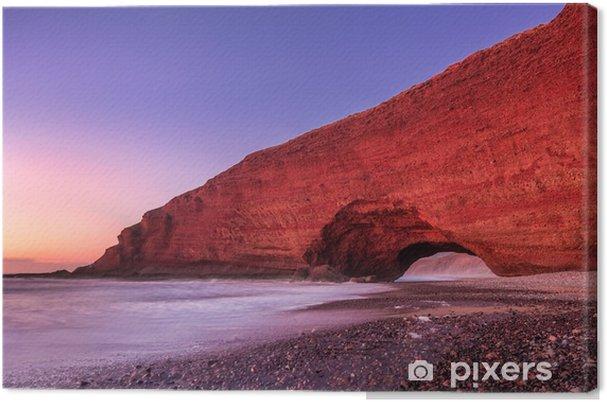 Canvas Rode bogen van Legzira strand - Landschappen