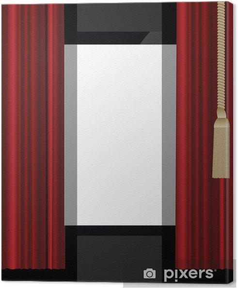 canvas rode gordijnen naar theater podium