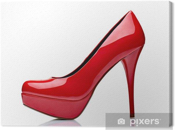 521263929a1 Canvas Rode hoge hak schoenen • Pixers® - We leven om te veranderen