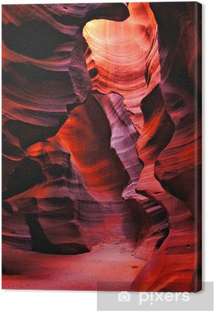 Canvas Rode rotsen van Antelope Canyon, Pagina, Arizona, Verenigde Staten - Amerika