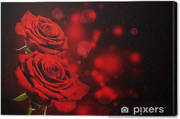 Canvas Rode rozen Valentine achtergrond - Thema's