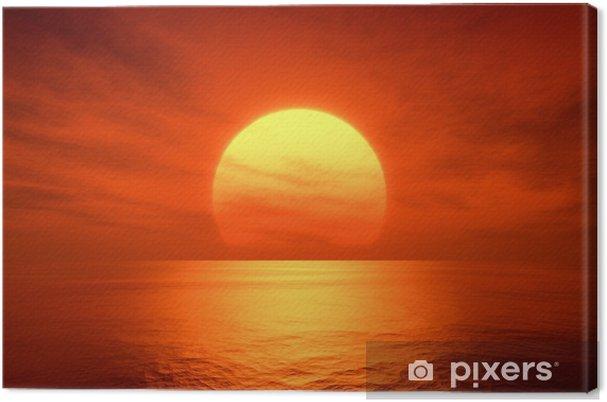 Canvas Rode zonsondergang -