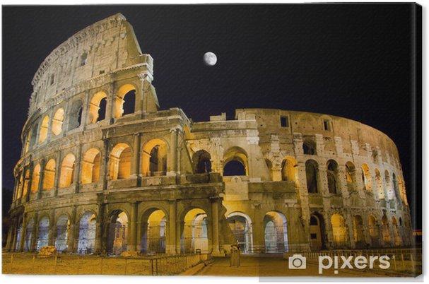 Canvas Rome, Italië - Night View van Colosseum - Thema's