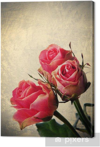 Canvas Rose selvatiche - vintage postcard - Thema's