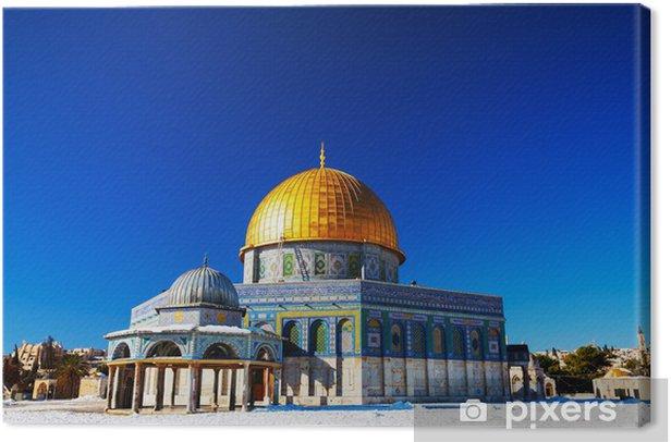 Canvas Rotskoepel moskee in Jeruzalem - Midden Oosten