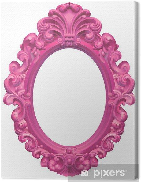 Barok Lijst Op Maat.Canvas Roze Ovale Barokke Lijst
