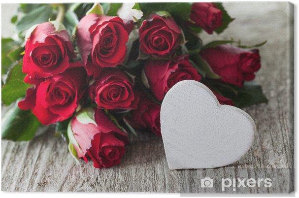Canvas Rozen en hart - Thema's