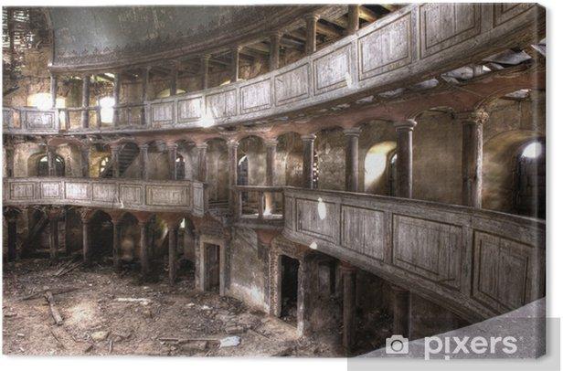 Canvas Ruïnes van het theater gebouw hdr - Europa