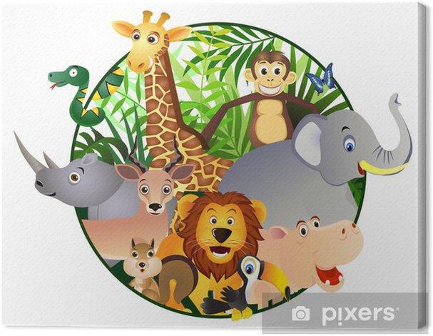 Canvas Safari cartoon - Muursticker